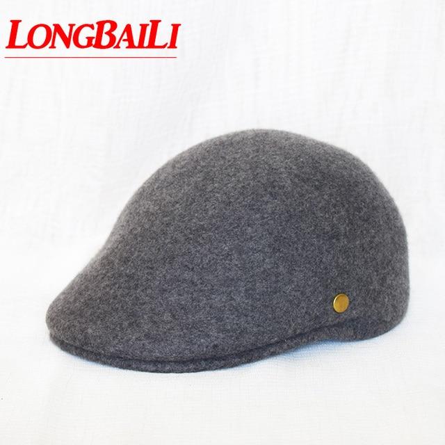 8b3e9aaafdc Winter Wool Visor Hats For Women Felt French Berets Newsboy Caps men Gatsby  Cabbie Flat Cap Free Shipping PWFE061