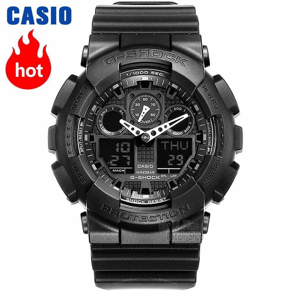 Orologio Casio G-SHOCK del Quarzo degli uomini di Sport Della Vigilanza Impermeabile Antiurto e Antimagnetico Funzione Esterna g shock Orologio GA-100
