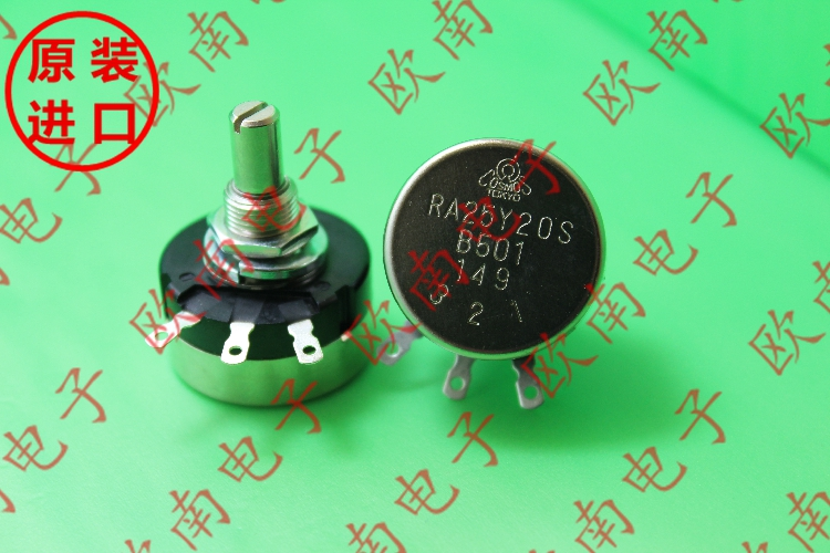 [VK] Japan TOCOS Lap Potentiometer RA25Y20S RA25Y 20S B501 500R   Shaft 20mm Switch