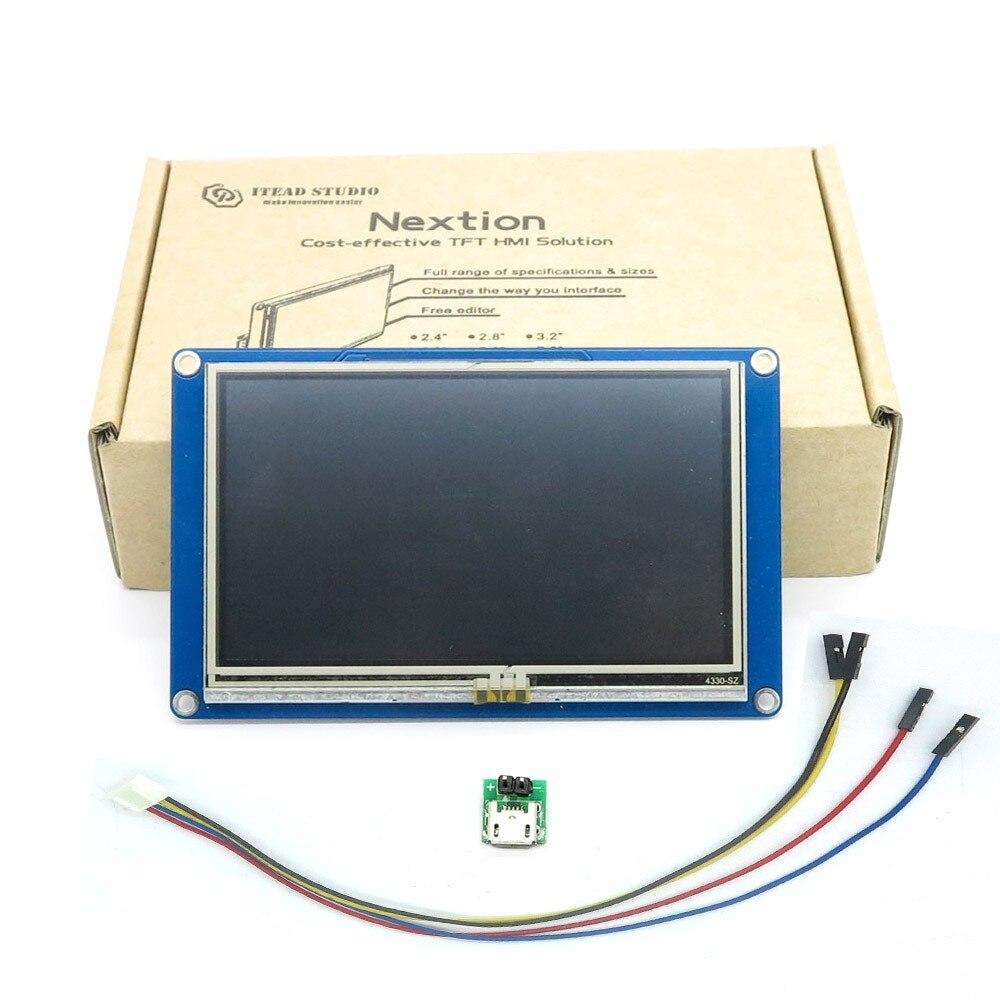 Nextion 4 3 inch Touch Screen TFT LCD Intelligent Display NX4827T043 HMI Intelligent Smart USART UART
