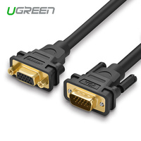 Ugreen Union Vga Extension Cable Male To Female Computer Video Cable 3 6 Lengthening Projector HDTV