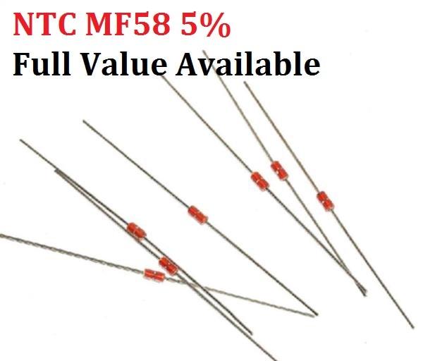 20pcs NTC MF58 5% 1K 2K 5K 10K 20K 50K 200K 100K 500K 1M Thermal Resistor 3950 B 1/2/3/5/10/K Ohm R Thermistor Sensor Free Ship