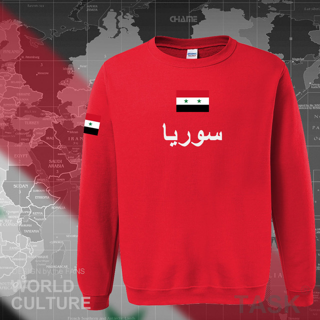 Syrian Arab Republic Syria hoodies men sweatshirt sweat new hip hop streetwear tracksuit nation footballer sporting SYR Arabic 3