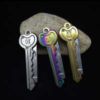 NEW Mini Key Knife Camp Outdoor Keyring Ring Keychain Fold Open Opener Pocket Package Survive Gadget Multi Tool Blade Box Kit