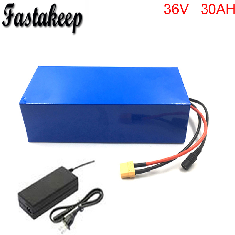 US EU No Tax High quality 36V 1000W Electric Bicycle Battery 36V 30Ah Lithium ion Battery Pcak with 30A BMS 2A Charger hot sale bottom discharge electric bike 36v 8ah li ion battery 36v 8ah electric bicycle silver fish battery with charger bms