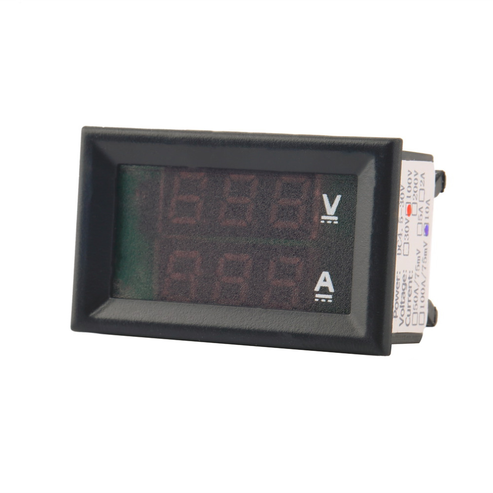auto voltmetr indikátor napětí ampérmetr voltmetr ampérmetr - Měřicí přístroje - Fotografie 3