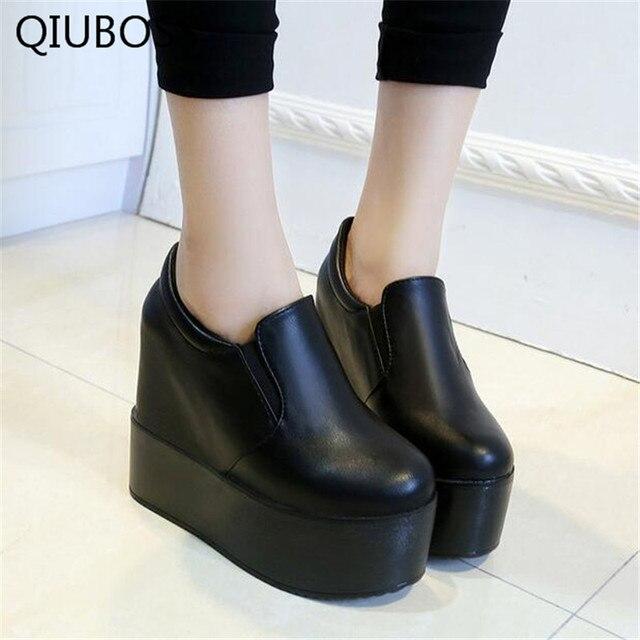 Vaca Suede mujeres Casual Zapatos de plataforma de la moda de los Zapatos Mujer cuñas mujeres Zapatos mocasines altura Lncreasing Zapatos Mujer