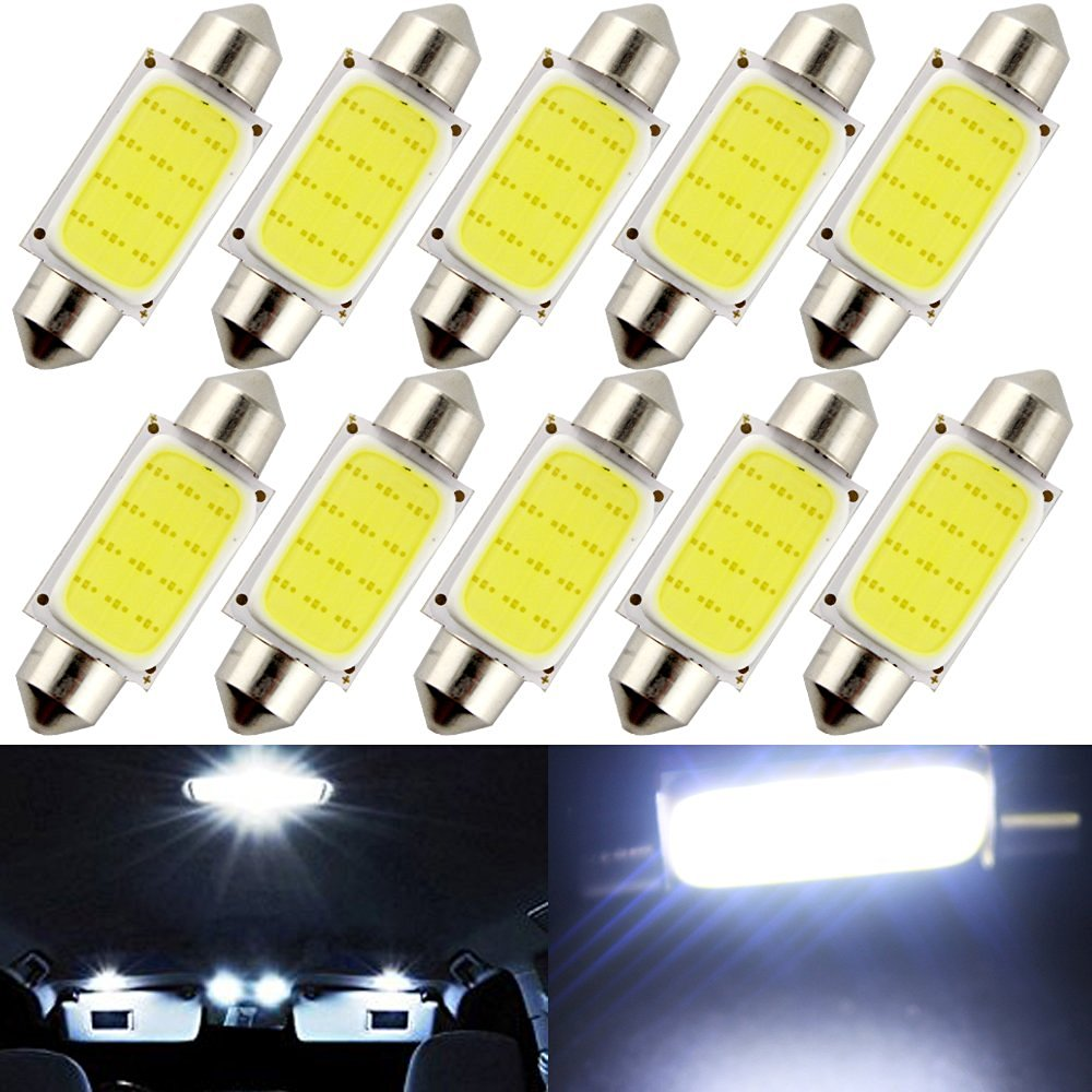 Car Headlight Bulbs(led) Car Lights Kebedemm 10pcs/lot 31mm 36mm 39mm 41mm Car Cob 1.5w Dc12v Interior Car Led Bulbs Lamp Interior