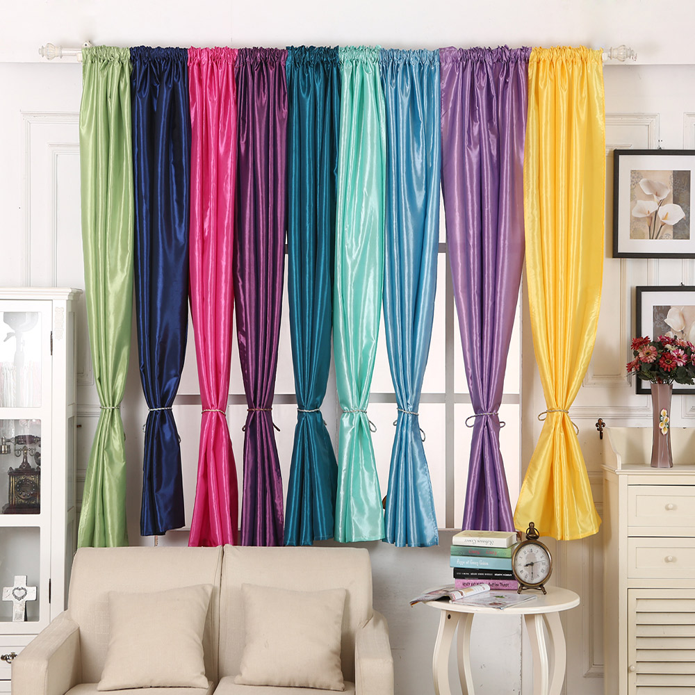 Functional Solid Blackout Curtains Valance window treatments for ...