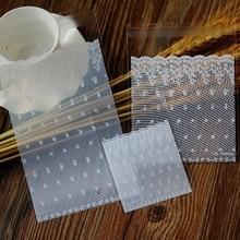 Белый кружевной самоклеящийся уплотнитель пекарня пластиковый пакет для хлеба, подарочные пакеты, пластиковые пакеты 100 шт/партия