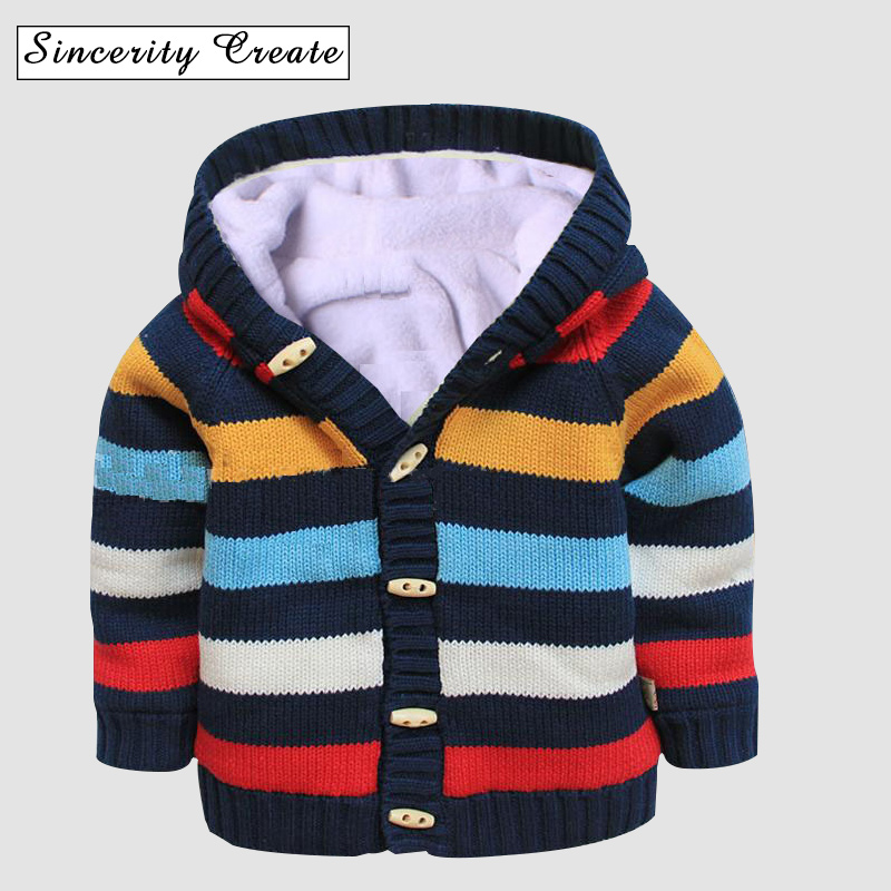 Kids Baby Sweater Coat Thick Fleece Infant Clothes Winter Baby Children Clothing Boys Girls Knitted Sweater ABS-1549