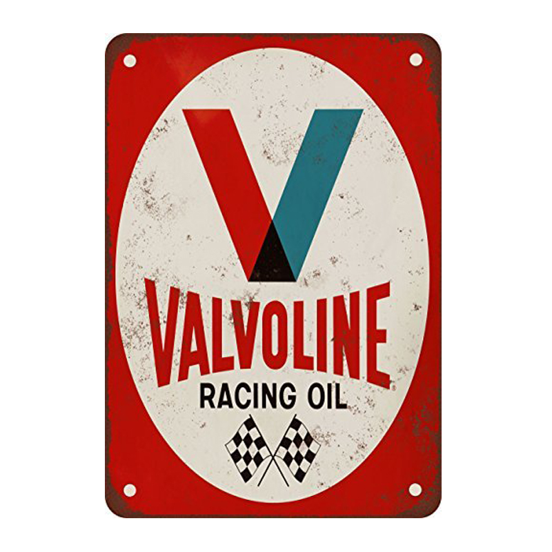 Valvoline racing oil. tin signs vintage metal plate the wall decoration for bar cafe garage