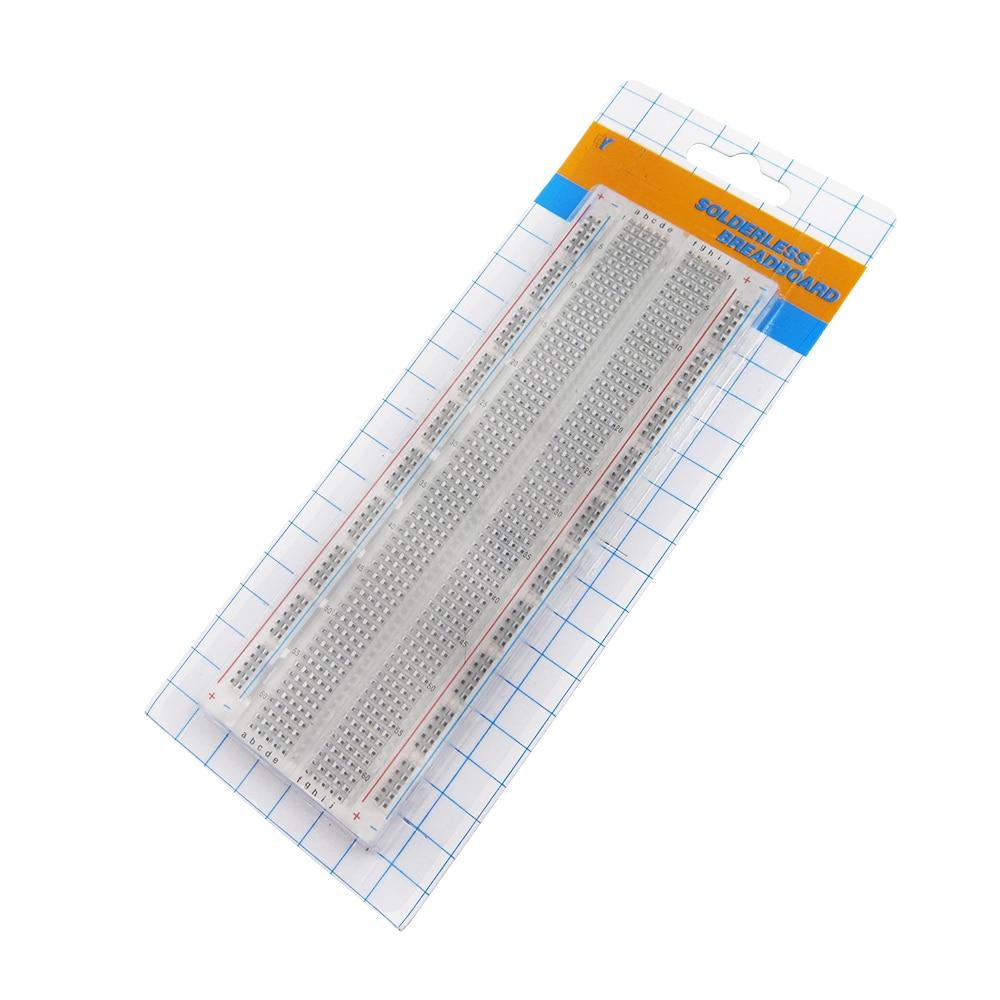 10pcs/lot MB-102 transparent Solderless PCB Breadboard 830 points PCB Boardbread for Shield Test Develop DIY T plastic solderless breadboard 840 tie point pcb panel 175 x 67 x 8mm