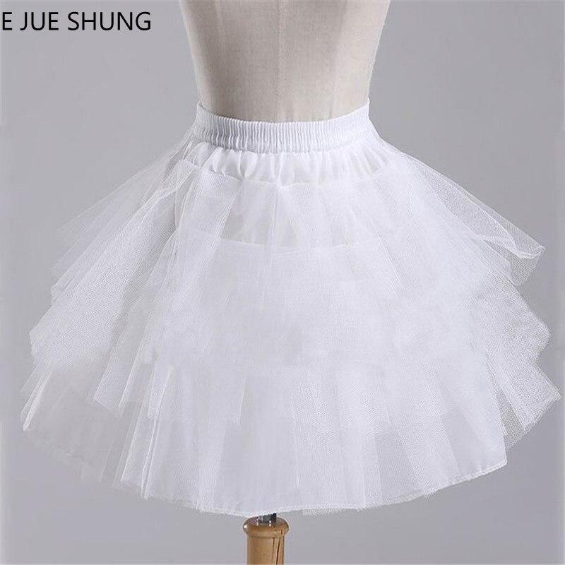 E JUE SHUNG Girls Short Dress Petticoat ,Girls Underskirt, Hard Tulle Lolita Petticoat Ballet Tutu Skirt Rockabilly Crinoline
