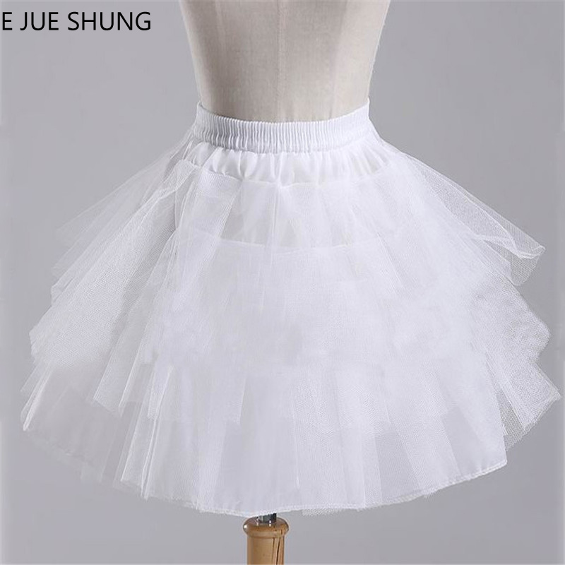 low priced 28f32 d16fc E JUE SHUNG Mädchen Kurze Kleid Petticoat, Unterrock Mädchen, Fest Tüll  Lolita Petticoat Ballett Tutu Rock Rockabilly Krinoline