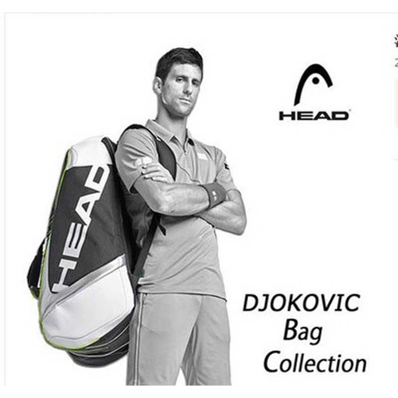 Djokovic Head Tennis Bag Tennis Rackets Bag 6-9 Tennis Racquets Bag Tennis Backpack Tenis Training Racquet Backpack Tenis Sports