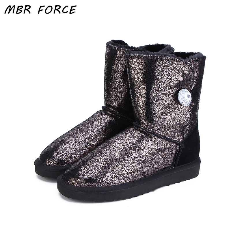 MBR FORCE Australia Classic New Top Quality Genuine Leather Snow Boots Fur Winter Boots Waterproof Warm UG Boots Women Boots