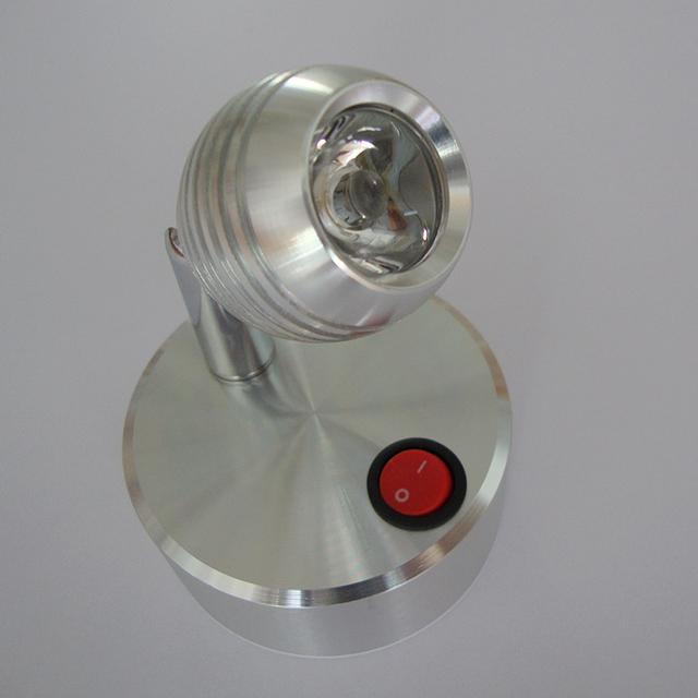 Batería de la lámpara sin fuente de alimentación LED lámpara 3 W luz escaparate carretera boda joyería móvil de emergencia lámpara de fondo