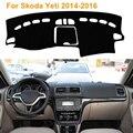 2016 Car Styling Dashboard Protective Mat Shade Cushion Photophobism Pad Interior Carpet For Skoda Yeti 2014-2016