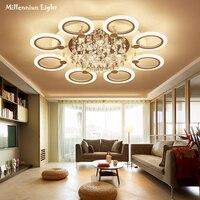 LED Ceiling Lighting Modern Acrylic Bedroom Lights Crystal Chandelier Ceiling AC110 260V Variable Light Remote Control