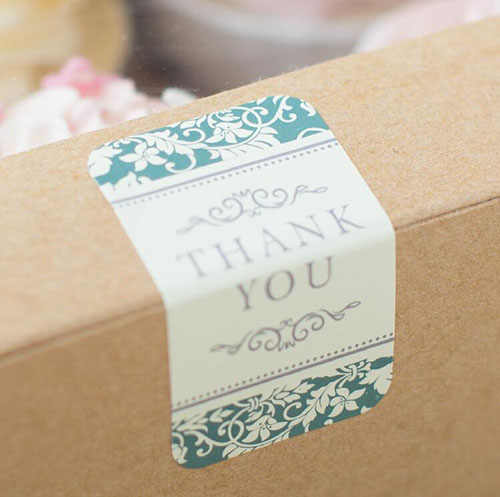 "360 pcs/lot   Baroque Style ""Thank You"" Self-adhesive Stickers Label Sticker DIY Hand Made Gift /Cake Paper Sticker"