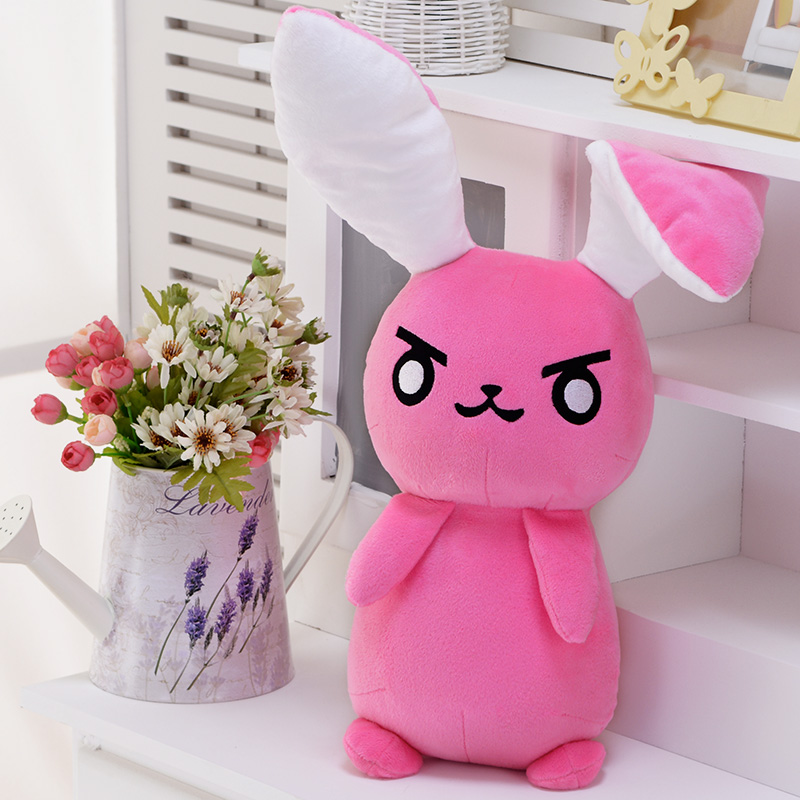 1PC 50cm Overwatches Cosplay Dva Rabbit Plush Toys Soft Game OW Dva Stuffed Animals Doll Pillows Lovely Kids Toys Gifts