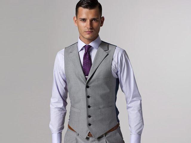 Online Shop Gray Wedding Tuxedo Custom Made Grey Suits Gray Groom ...