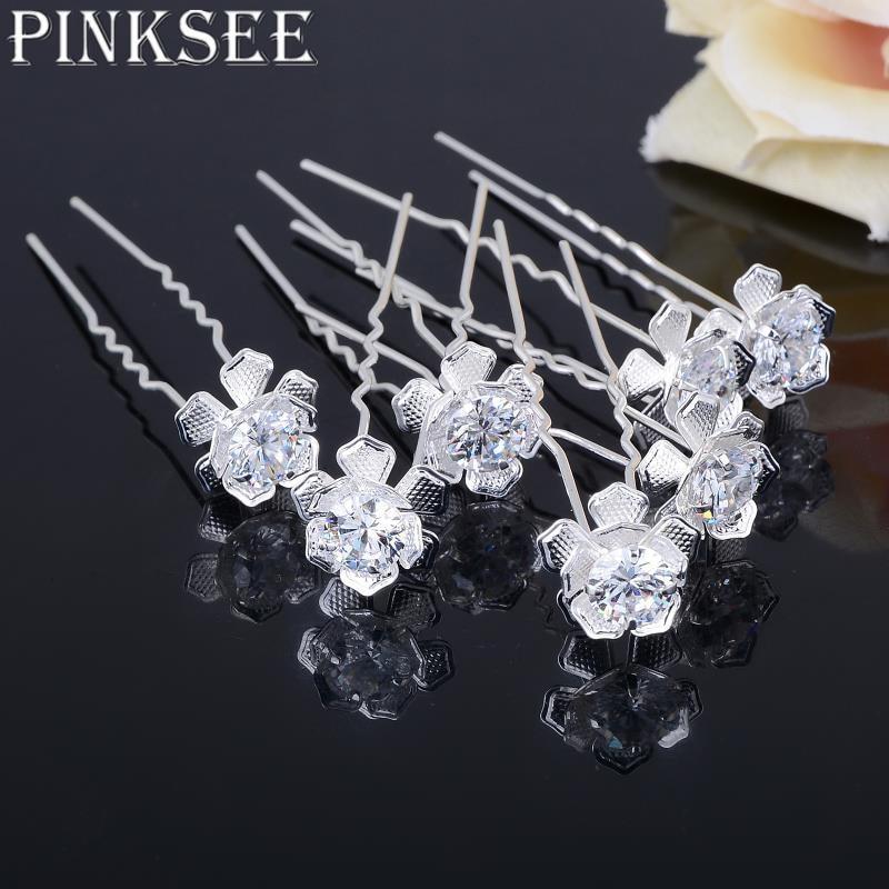 20pcs Set Wedding Bridal Hair Pins Crystal Rhinestone Hollow Flower Hair  Clips Jewelry Accessories bijoux femme 4d7b17444506