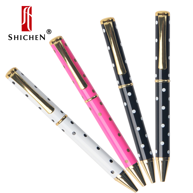 Shichen A019 good quality print dot ball point <font><b>pen</b></font> <font><b>0.7</b></font>,1.0mm <font><b>refill</b></font> for business office gift or school using metal <font><b>pen</b></font> image