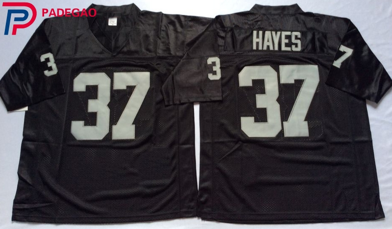 Embroidered Logo Lester Hayes 37 white black Throwback high school FOOTBALL  JERSEY for fans gift cheap 1108-8 e9111537ba7b