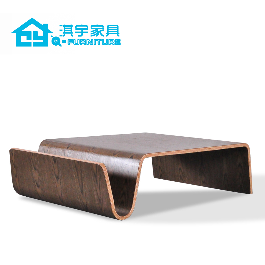 Qi Yu Furniture Scando Table Minimalist Bent Wood Coffee Table