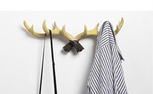 deer horn wall mounted hanging hook self adhesive DIY hanger rack elk head bag key holder clothes hat/bag/scarf LFB165