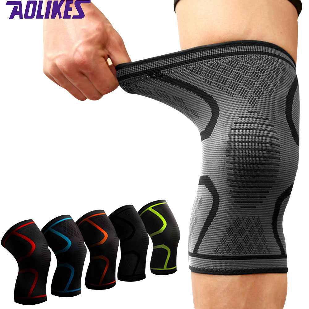 Aolikes 1pc Knee Support Knee Pad Brace Kneepad Gym Weight Lifting Knee Wraps Bandage Straps Guard Compression Knee Sleeve Brace Knee Sleeve Brace Compression Knee Sleeveweight Lifting Knee Wraps Aliexpress