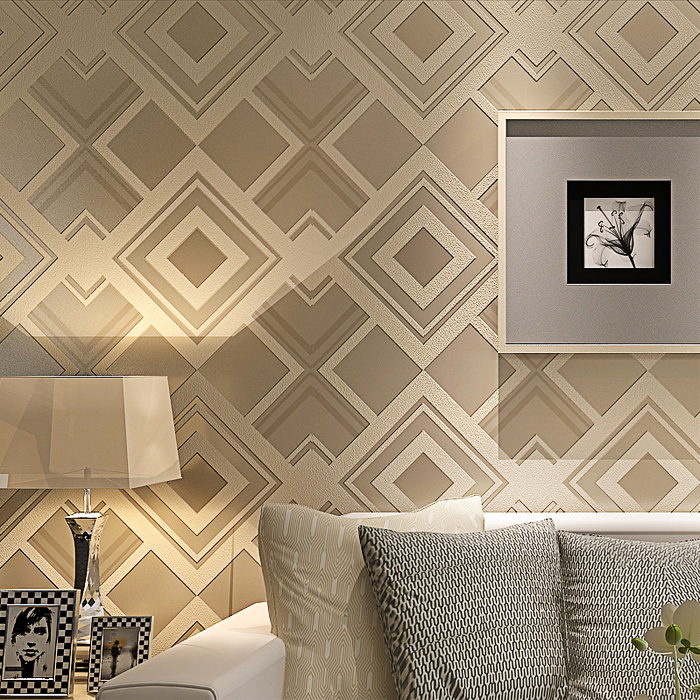 3d Papel de parede Diamond Rhombus shape 3d wallpaper rolls for Living Room sofa background plaid wall paper vinyl wallcoverings 3d bookshelf wallpaper rolls for study room of american vintage chinese style background 3d wall paper papel de parede