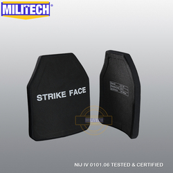 MILITECH Zwei PCs Multi Kurve SIC & PE NIJ IV Kugelsichere Platten NIJ IV Stand Alone Ballistic Platten NIJ Lvl 4 Composite Rüstung