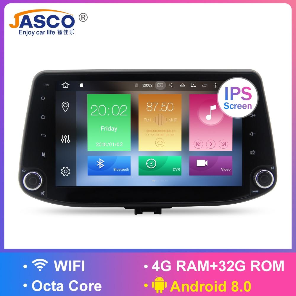 4 GB Android 8.0 lecteur DVD stéréo de voiture GPS Glonass Navigation pour Hyundai i30 2016 2017 vidéo multimédia Radio headunit