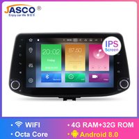 4GB Android 8.0 Car Stereo DVD Player GPS Glonass Navigation For Hyundai i30 2016 2017 Video Multimedia Radio headunit