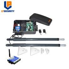 무료 배송 방수 전기 선형 액추에이터 더블 암 스윙 게이트 모터 콘 GSM photocells 램프 버튼 옵션