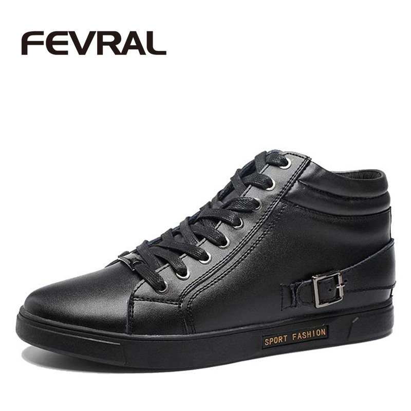 FEVRAL New Winter Men Boots Warm Fur Cow Split Leather Shoes High Quality Black Fashion Heighten 6 CM Autumn Ankle Boots Men new high quality pu leather winter boots men fashion warm cotton brand ankle boots shoes men for spring autumn winter shoes