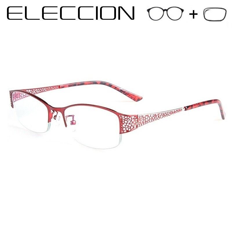 Optical Prescription Glasses Women Myopia Eyeglasses with Lenses Photochromism Hyperopia Progressive Anit Blue Ray Eyewear(China)