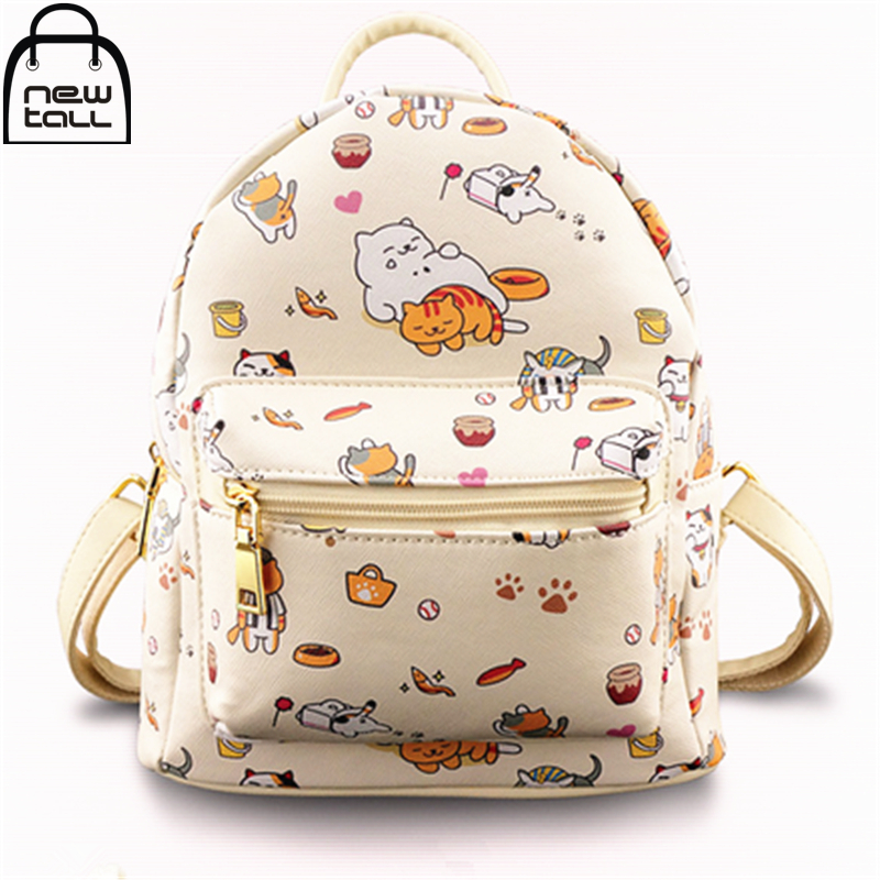 [NEWTALL] 2017 New Fashion Game Neko Atsume Charm Kitty Collector Backpack Spots Tubbs Shoulder Bag 16080322 kitty cat backyard neko atsume backpack comic periphery dual portable canvas shoulders bag cartoon accessory kids anime gift