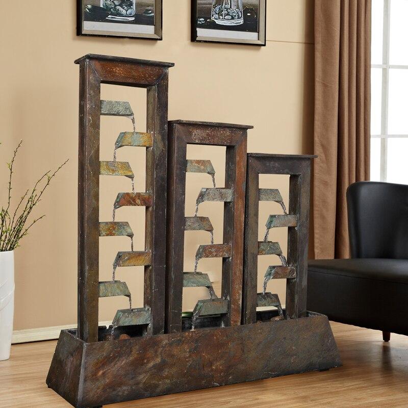 la fuente de agua de piedra equipos de promoverse paso a paso la sala de estar