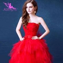AIJINGYU 2021 2020 gerçek fotoğraflar özelleştirilmiş yeni sıcak satış ucuz top elbisesi lace up geri örgün gelin elbiseler düğün elbisesi TJ147