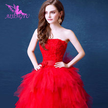 AIJINGYU 2021 2020 real photos Customized new hot selling cheap ball gown lace up back formal bride dresses wedding dress TJ147