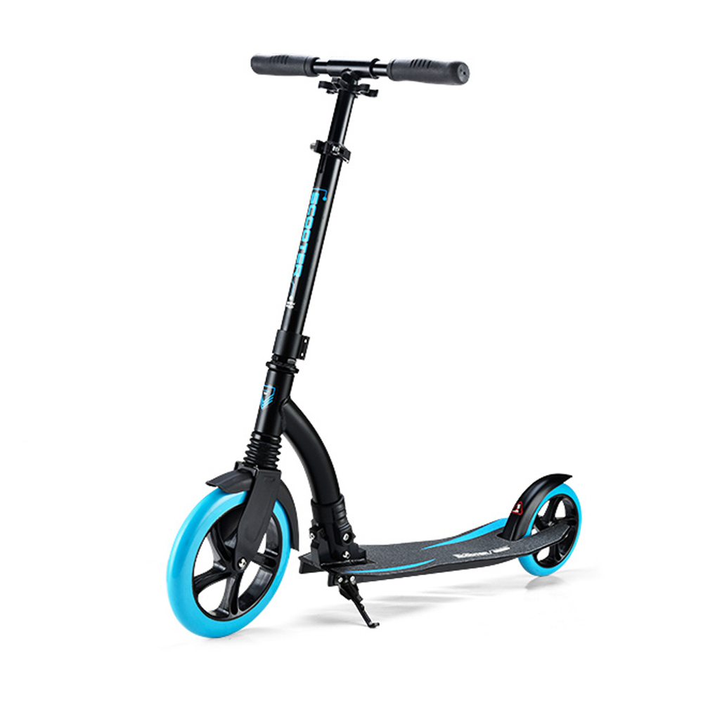 Adult Folding Kick Scooter Shock Absorption Scooter 230mm diameter wheels Aluminum Compact Design