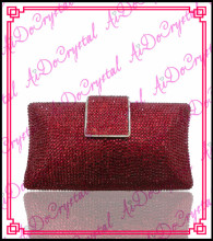 Aidocrystal Best selling nice quality red wedding clutch bag and shoes set for party