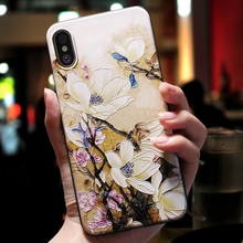 3D Flowers Phone Cases iPhone 6 6s Plus 7 8 Plus X XR XS Max