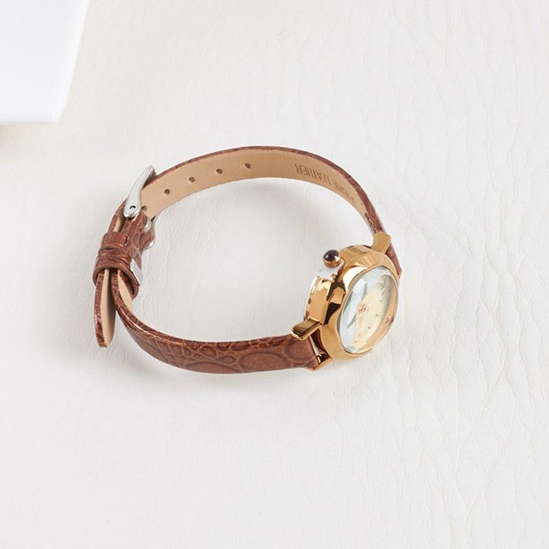 Hot Women Leather Strap Wristwatch Women 39 s Rhinestone Watches Fashion Casual Japan Quartz Watch Luxury Famous Julius 482 Clock in Women 39 s Watches from Watches