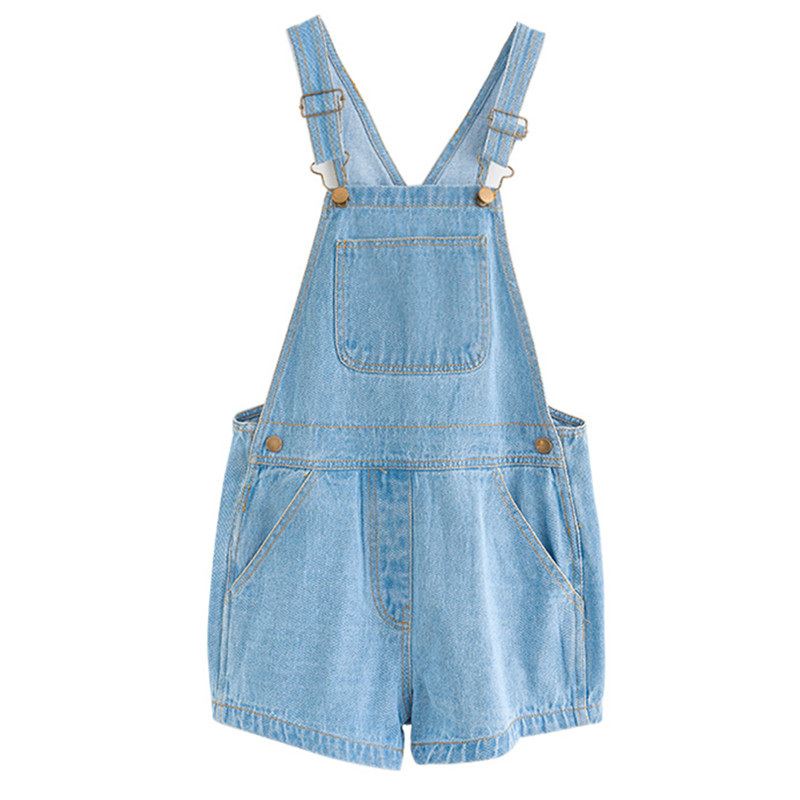 Doelstelling Kids & Tiener Grote Meisjes Zomer Lichtblauw Katoen Jeans Denim Overall Shorts Kinderen Mode Toevallige Jumpsuits Kleding