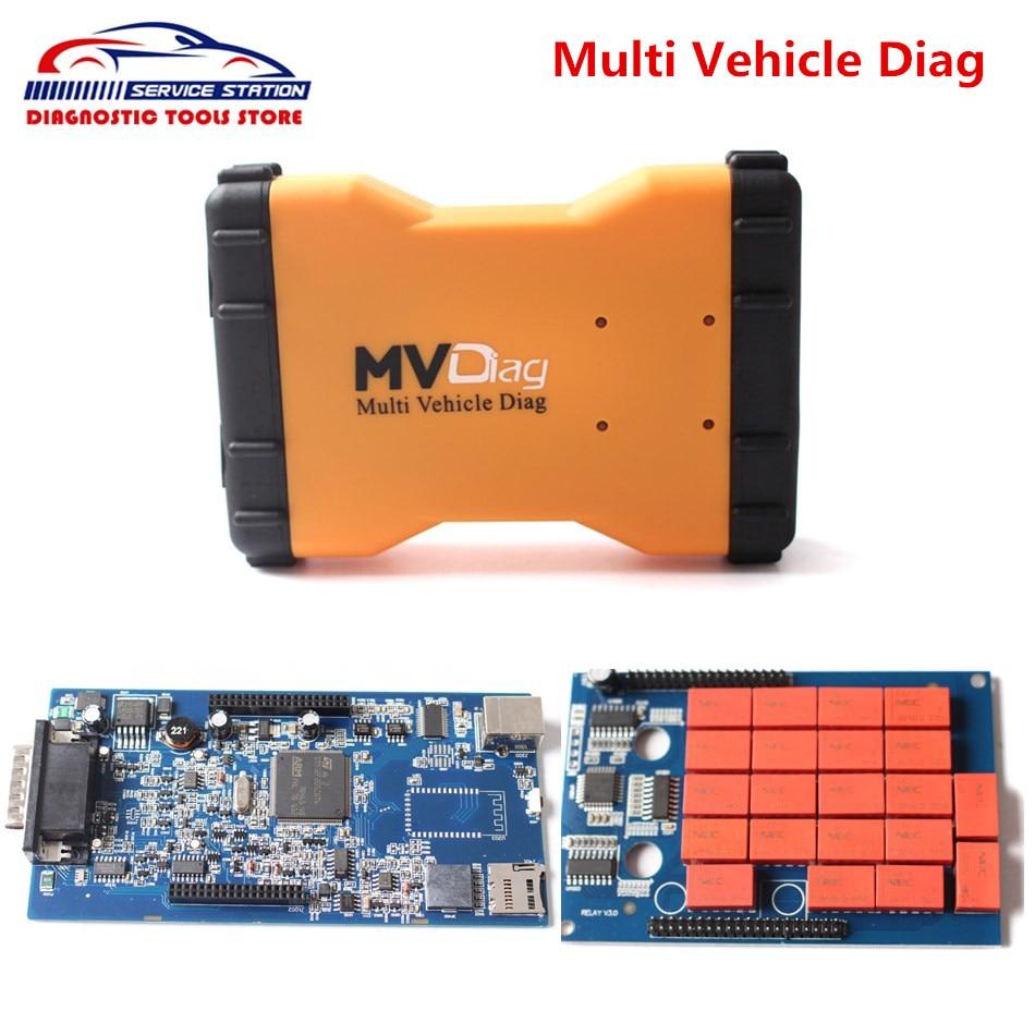 ФОТО Best Quality Multi Vehicle Diag MVDiag No Bluetooth Same As TCS CDP WOW V5.00.8 R2 Free Active New VCI MVD Free Ship